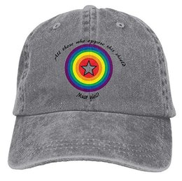 04b4b1477 ... gay pride shield adult cowboy hat baseball cap adjustable athletic  customized cool hat for men and