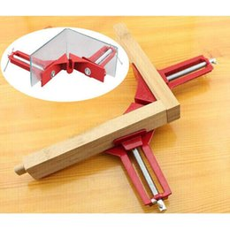 angle clamps NZ - Multifunction 4inch 90 degree Right Angle Clip Picture Frame Corner Clamp Mitre Clamps Corner Holder Woodworking Hand Tool 100mm free shippi