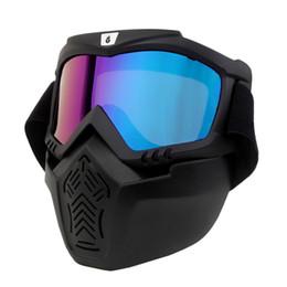 Ski Skate Motocross Goggles Moto Gafas Casco Gafas a prueba de viento Carretera Moto Cross Cascos Máscara Caliente en venta