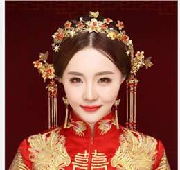 $enCountryForm.capitalKeyWord NZ - New bride headwear, antique hair accessories, classic dragon and Phoenix gown accessories, wedding Chinese style Phoenix crown.