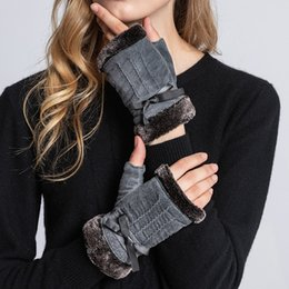 $enCountryForm.capitalKeyWord NZ - Sumusan women half finger leather gloves winter black comfortable gloves lady thick warm pigskin leather mittens