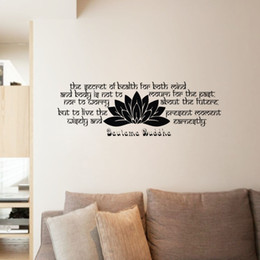 Bathroom Wall Sticker Quotes Australia - Gautama Buddha Wall Stickers Quotes Removable Vinyl Art Decals Buddhism Home Decoration Wall Murals