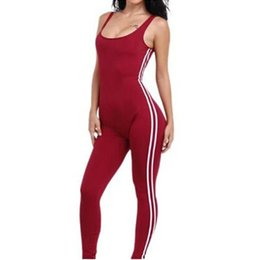 f318dfbcbe12 hirigin Sexy Women Casual Sleeveless side striped Bodycon Romper Jumpsuit  Club Bodysuit women female Jumpsuits