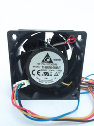 Wholesale delta air lines online – design The original DELTA V A THB0648BE CM four line large air volume PWM intelligent speed control fan