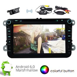 Stereo Din Volkswagen Australia - Double Din Car Stereo 8'' Quad -Core Android 6.0 Marshmallpw HeadUnit for Volkswagen GPS Bluetooth Car dvd Radio SWC USB SD AUX