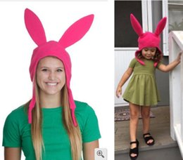 bunny gifts women 2019 - Hat Bobs Burgers Louise Beanie Adul Woman Ladies tKids Baby Girl Bunny Ears Gift Fans Polyester Warm Hats Pink discount