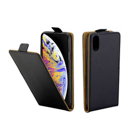 Vertical flip leather case online shopping - Business Leather Case For Coque iPhone XS Max Vertical Flip Cover Card Slot Cases For iPhone inch Mobile Phone Bags