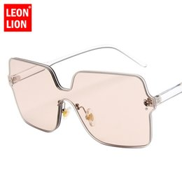 $enCountryForm.capitalKeyWord NZ - LeonLion 2018 Ocean Lens One-piece Sunglasses Women Outdoor Classic Glasses High Quality UV400 Shopping Oculos Lunette Femme