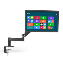 "China Desktop Rotating 13""-24"" LCD LED TV Mount Computer Monitor Holder Retractable Arm VESA 75 100 Load 5.5kgs Wall Distance 630mm cheap lcd desktop mount suppliers"