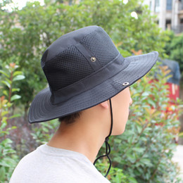 49709dad5fd Outdoor Camping Hiking Sports Men Women Fishing Hat Bucket Hat Fisherman  Camo Ripstop Jungle Bush Hats Boonie Wide Brim Sun Caps
