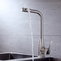$enCountryForm.capitalKeyWord NZ - Alloy Kitchen sink Faucet mixer Seven Letter Design 360 Degree Rotation Water Purification tap single Handle