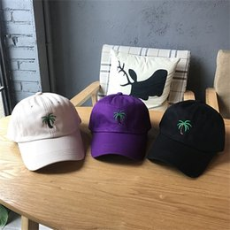 e157d18d7f3 Embroidery Palm Trees Curved Baseball Caps Take A Trip Cap Coconut Trees Hat  Strapback Adjustable Hip Hop New Arrival 10lq aa