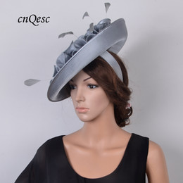 ded67ad160995 Saucer hatS for weddingS online shopping - NEW ARRIVAL Large saucer sinamay  satin fascinator hat for