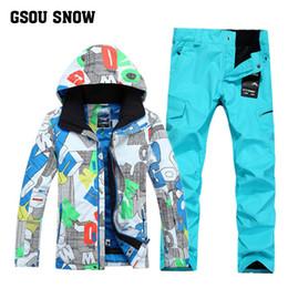 $enCountryForm.capitalKeyWord Australia - Gsou Snow Men's Ski Suit Outdoor Single Double Board Windproof Waterproof Warm Ski Jacket+Ski Pants For Men Size M-L