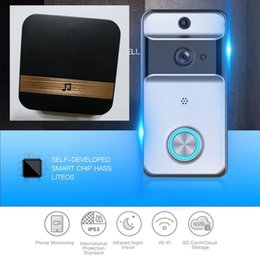 Bell support online shopping - indoor chime IP53 Waterproof Wireless Door Bell WI FI Video Doorbell Security Camera IR Night Vision Battery Support TF