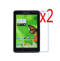 China 2x Film + 2x Cloth, Retail Package Clear LCD Screen Protector Guards Protective Films For Lenovo Tab A5500 A8-50 A8 50 8