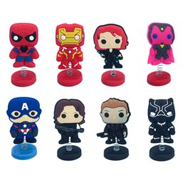 $enCountryForm.capitalKeyWord NZ - Free Shipping Standing Doll Marvel's The Avengers Party Favor Decoration Toy for Table&Car And Retail For Kid Best Gifts