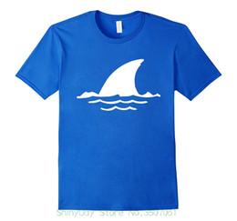 shark fins 2019 - New Mens Spring Summer Dress Short Sleeve Casual Dicky Ticker Shark Fin T-shirt Warning cheap shark fins