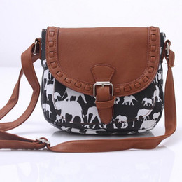 $enCountryForm.capitalKeyWord Australia - 2017 New Retro Elephant Canvas Printed Women Travel Messenger Bag Small Shoulder Bag Casual Shell Bolsas