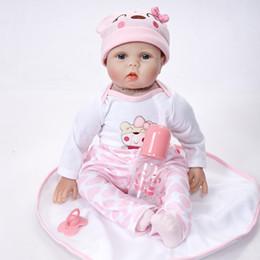 Realistic silicone mini dolls online shopping - Lifelike Pink Princess Girl Newborn Doll Inch Realistic Silicone Real Touch Newborn Babies Toy With Clothes hat Kids Birthday Xmas Gift