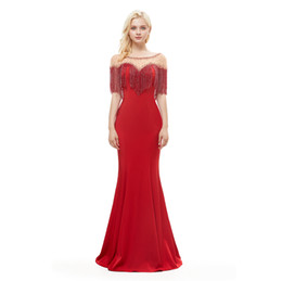 d46048075bf Diamonds Tassel Voile manual 2018 New Women s Elegant Long Gown Party Prom  For Gratuating Date Ceremony Gala Evening Dresses 31