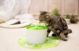 Discount cat drinking water fountain - Pet Waterer Electric Automatic Pet Water Dispenser Feeder Water Fountain Mute Cat Dog Water Bottle Drinking Bowl EU US P