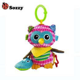 soft plush stuffed toy owl 2020 - sozzy Cute Plush owl Toy Comfort Baby Infant Towel with Sound Paper and Teether Soft Stuffed Toys Playmate Doll