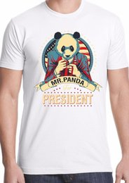 panda t shirt men 2019 - panda t-shirt america president trump alternative campaign funny Donald Hilary cheap panda t shirt men