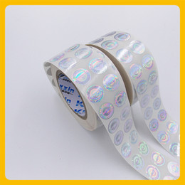 Round Stickers Roll Australia - Custized laser printed anti-fake security void round hologram roll sticker label