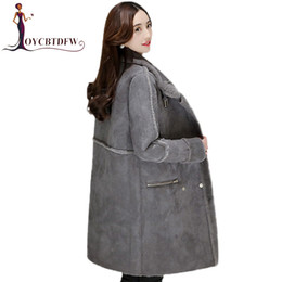 $enCountryForm.capitalKeyWord Canada - 2017 Winter New Woolen Coat Women mid-Long section Double breasted Deerskin Lamb Wool Coat Women Thicker Warm Parkas DD029