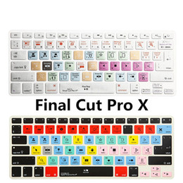 macbook 15 keyboard cover NZ - Durable Final Cut Pro X Shortcuts Hot key Silicone Keyboard Cover Protector For Macbook Air Pro Retina 13 15 17 Release