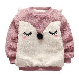 $enCountryForm.capitalKeyWord NZ - Pullover Winter Coats for Girl Fox Design Jackets Warm Baby Girl Clothes Fleece Lining Kids Coats 18101002