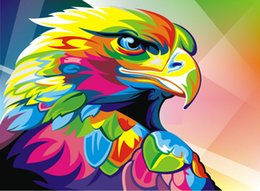$enCountryForm.capitalKeyWord Australia - Modern Home Decor Prints Colorful Eagle Animal Oil painting High Quality Printed on Canvas art wall poster painting for Living Room Decor