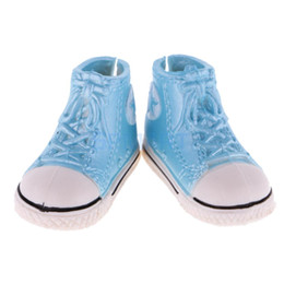 China 1 Pair Fashion Mini Toy 3.7cm Canvas Shoes Sneaker Plimsolls for 1 6 Blythe BJD Dolls Ball Joints Doll Accessory Shoes suppliers