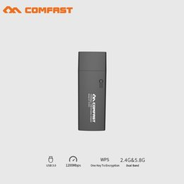 Ethernet Cf Card Australia - COMFAST CF-912AC 2.4G 5.8G wifi adapter Dual-Band 802.11ac 1200M gigabit USB3.0 WI-FI Network Card wi fi Receiver dongle router