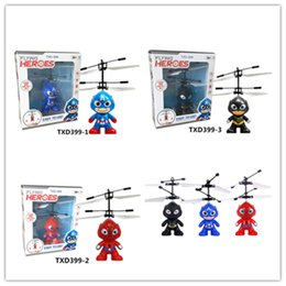 Discount children toys drones - 3 styles RC Drone Flying copter Ball Aircraft Helicopter Led Flashing Light Up Toys Induction Electric Toy sensor Kids C
