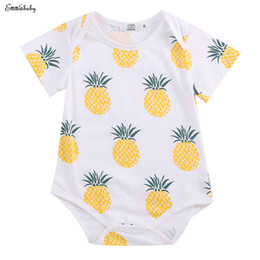 d92d80fe2fa 2017 Infant Baby Boy Girl Rompers Clothes Cotton pineapple Jumpsuit Outfits  Newborn Kids Boys Girls Romper 0-24M