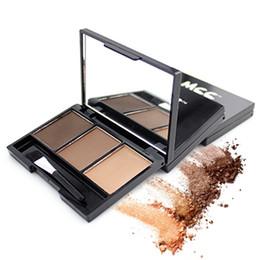 $enCountryForm.capitalKeyWord UK - Professional 3 Color Eyebrow Powder Palette Waterproof Eyebrow Enhancer Cosmetic Brush Mirror Box Makeup Tools Set