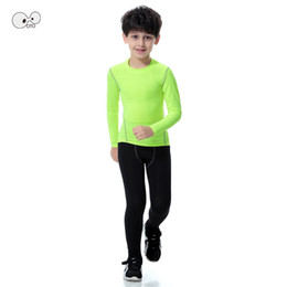 $enCountryForm.capitalKeyWord NZ - Long Sleeve Kids Boys Compression Running Sets Sports Shirts Pants Football Basketball Soccer Fitness T-shirt Tights leggings