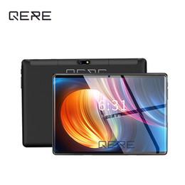 Vente en gros QERE QR8 10.1 Pouces 10 dix Core 4G + 64G Android 8.0 WiFi Tablet PC SIM Double Caméra 8.0MP IPS Bluetooth MTK6797 3G WiFi Appel Téléphone Tablet Cadeaux