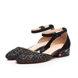 $enCountryForm.capitalKeyWord UK - Women High Chunky Block Heel Dress Sandals crystal buckle