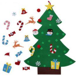 kids diy felt christmas tree set with ornaments children gift toddler door wall hanging preschool craft xmas decoration