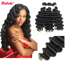 Discount cheap remy hair extensions - 3 4 pcs Raw Indian Hair Loose Deep Wave Human Hair Weave Bundles Rabake Cheap Brazilian Virgin Remy Cuticle Aligned Hair