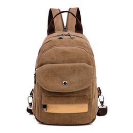 $enCountryForm.capitalKeyWord NZ - 2017 New Arrival Canvas Unisex Solid Arcuate Shoulder Strap Softback Zipper Polyester Flap Pocket Vintage Soft Handle Backpacks
