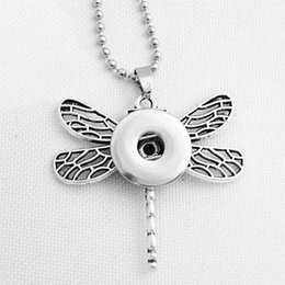 $enCountryForm.capitalKeyWord Canada - Snap Button Jewelry Newest Dragonfly Pendant Necklace Hot NE128(fit 18mm Snaps Snap) DIY Party Dress Jewelry Chiristmas Necklaces For Women