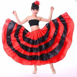 346320be2 Flamenco Costumes NZ - Children Spanish Flamenco Skirts Brazil Dance Costume  Gypsy Girls Ballroom Belly Dancing