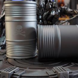 Oil Barrel Drum Canada - Outdoor Camping Equipment Car Ashtray Cigar Creative Metal Aluminum Alloy Storage Tank Oil Drum Gift Fashion Barrel Shaped Car Cigarette As