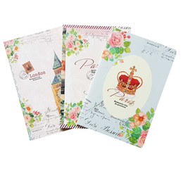 China 1pcs lot Retro London Paris A5 book Daily journal Notepad fancy School Office material Stationery cheap paris stationery wholesale suppliers