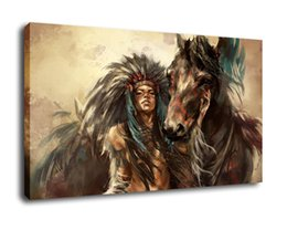horses girl painting Australia - Cartoon Art Girl And Her Horse,Oil Painting Reproduction High Quality Giclee Print on Canvas Modern Home Art Decor E288
