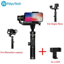 Discount handheld camera stabilizers - FeiyuTech Feiyu G6 Plus Splash Proof Handheld Gimbal Stabilizer For hero Mirrorless camera For zhiyun craneDJI